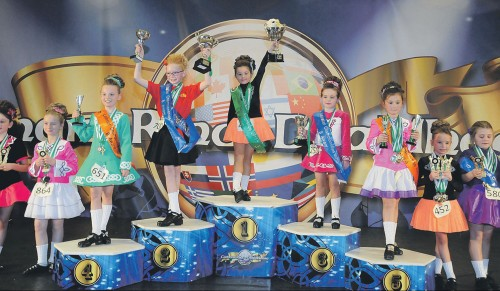 Age-8-B-award-podium - Leinster Championships in Dublin