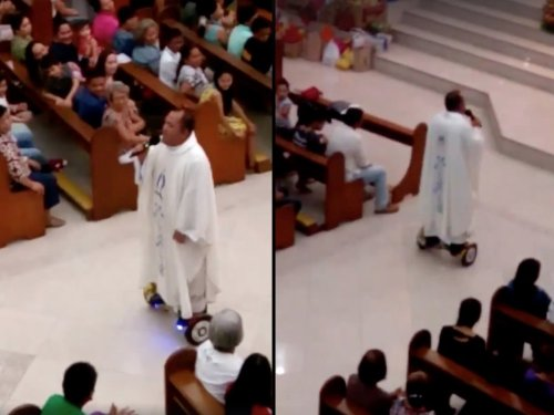 Hoverboard priest suspended