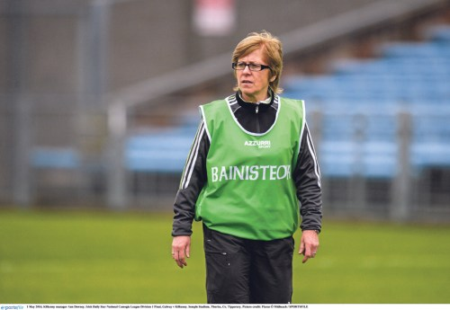 1 May 2016; Kilkenny manager Ann Downey. Irish Daily Star National Camogie League Division 1 Final, Galway v Kilkenny. Semple Stadium, Thurles, Co. Tipperary. Picture credit: Piaras Ó Mídheach / SPORTSFILE
