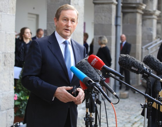 2/11/2016. Brexit Conference. Taoiseach Enda Kenny, speaks to the media as he arrives at the Brexit All-Ireland Civic Dialogue in the Royal Hospital Kilmainham (RHK). RollingNews.ie