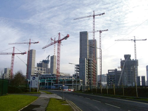 Building activity outside London hits record levels