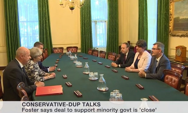 Northern Irish DUP Party reaches agreement with May to form United Kingdom  government