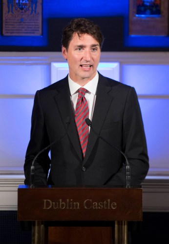 Justin Trudeau Irish visit deeper socks hurleys