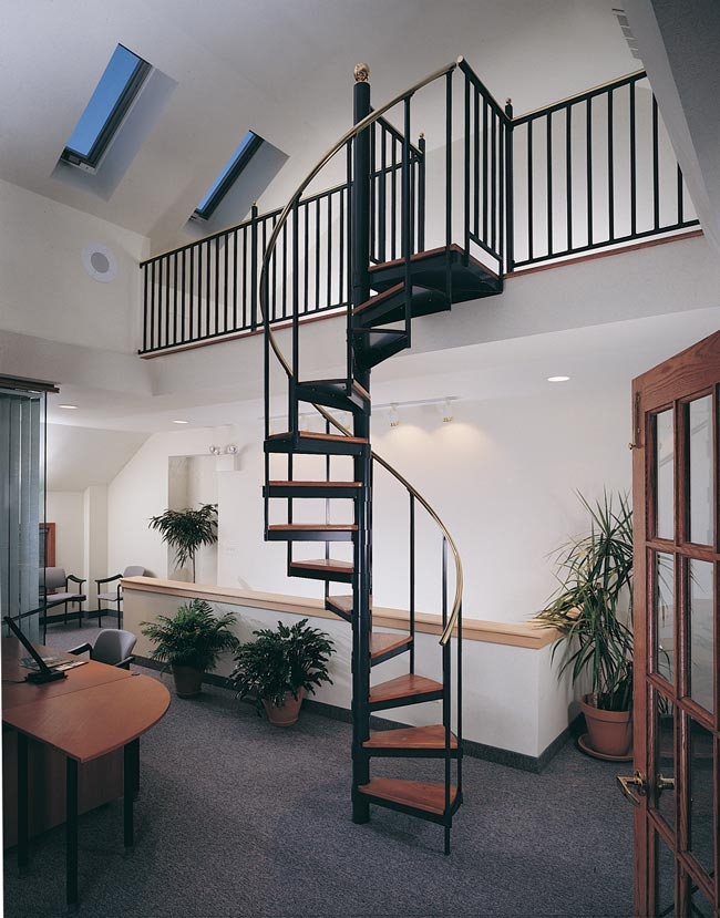 Metal Spiral Staircase Photo Gallery The Iron Shop Spiral Stairs | Spiral Staircase Wooden Steps | Tiny House | Wrought Iron | Rustic | Creative | 2 Story