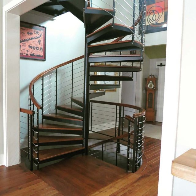 Diy Spiral Staircase As Low As 690 The Iron Shop Spiral Stairs   Salter Spiral Stair Cost   Stair Railing   Deck Railing   Stair Case   Solid Wood   Collegeville Pa