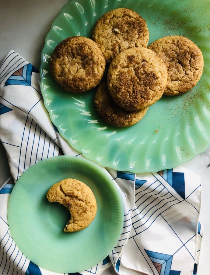 Brown Butter Goat Cheese Snickerdoodle Cookies