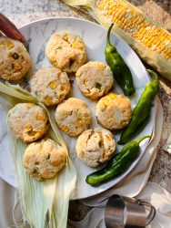 sweet corn shoshito pepper biscuits