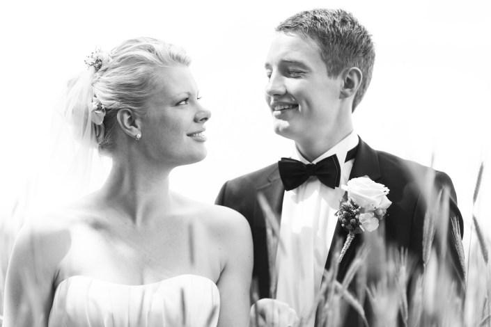 Kærlighedens blik fanget i bryllupsbilledet