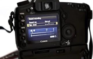 Canon 5D Mark II - Manuel lyd kontrol