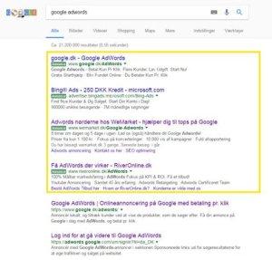 hvad er google adwords