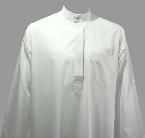 Men's white thobe - Q&S Islamic Store
