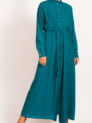 Tassel Long Teal Shirt by Q&S Islamic Store