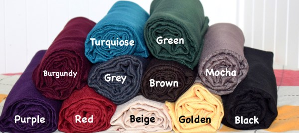 Thick viscose scarves with labels by Q&S Islamic Store