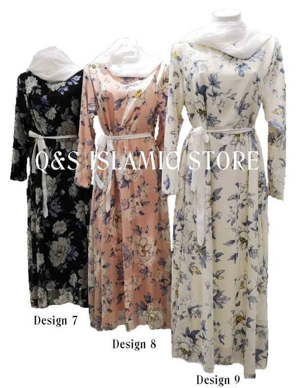 Floral Chiffon Dress by Q& Islamic Store