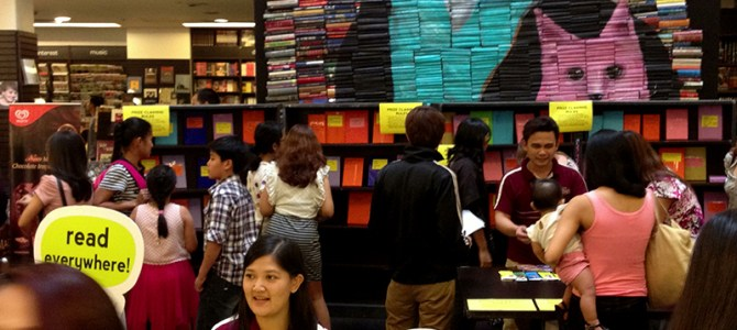 Celebrating Lucy's third birthday at Fully Booked!