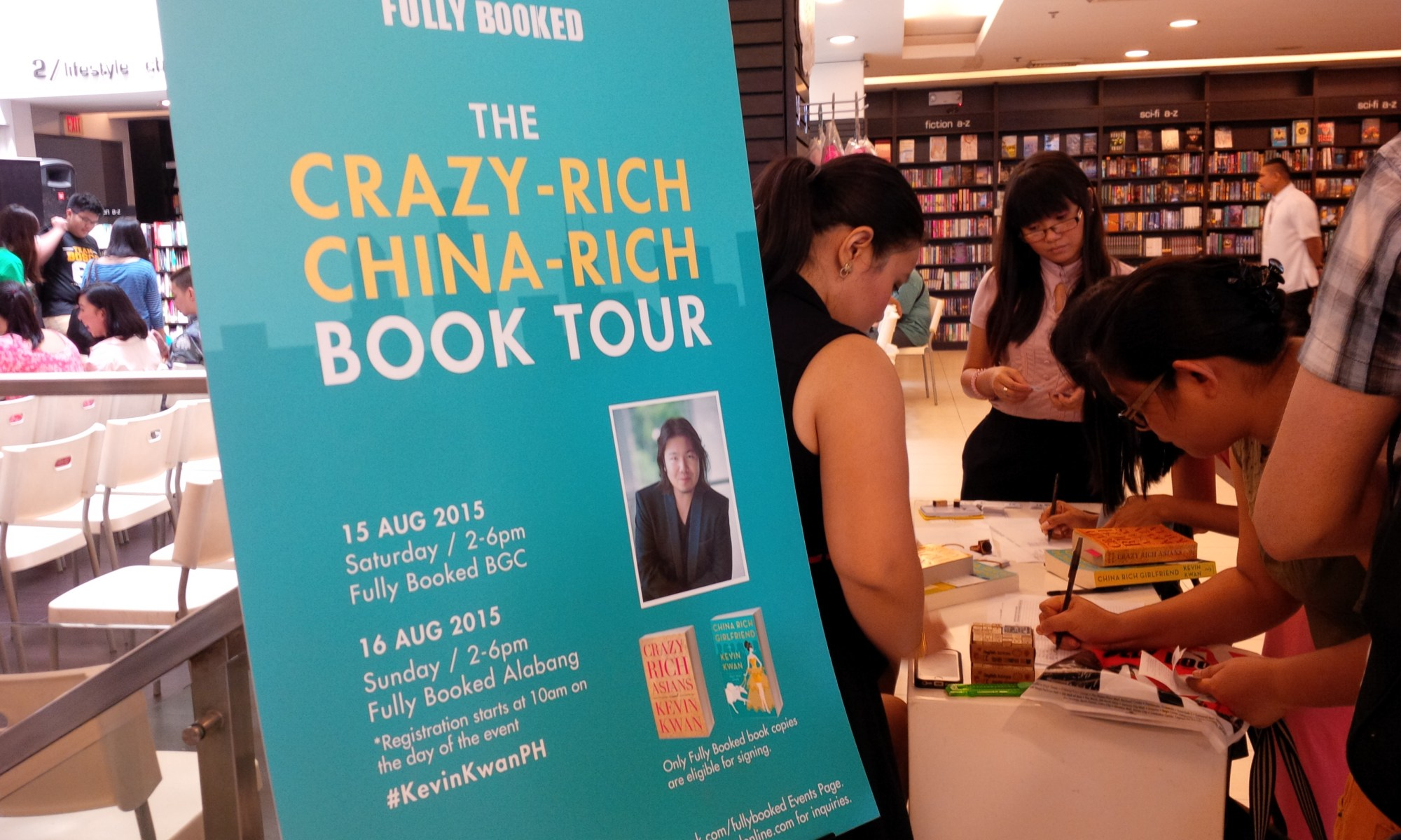 Crazy Rich Asians Kevin Kwan book signing