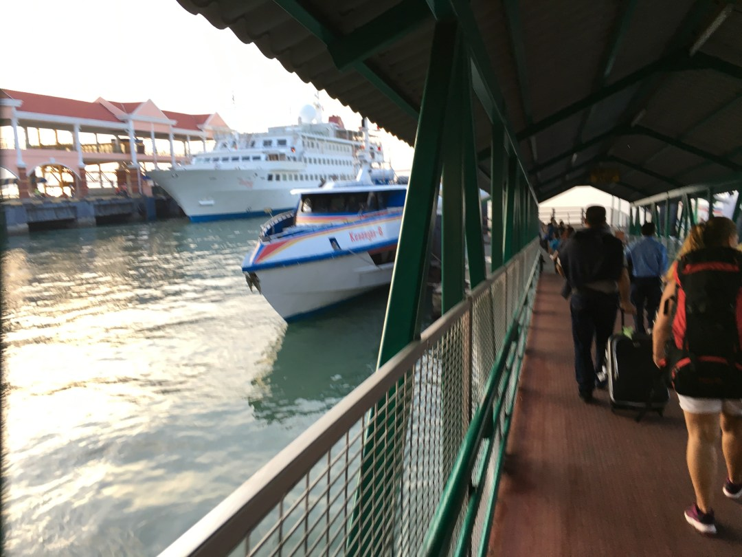 Boarding the ferry to Langkawi