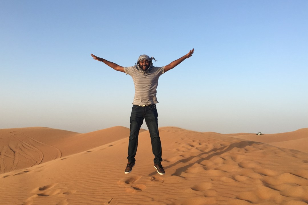 Having fun at the desert