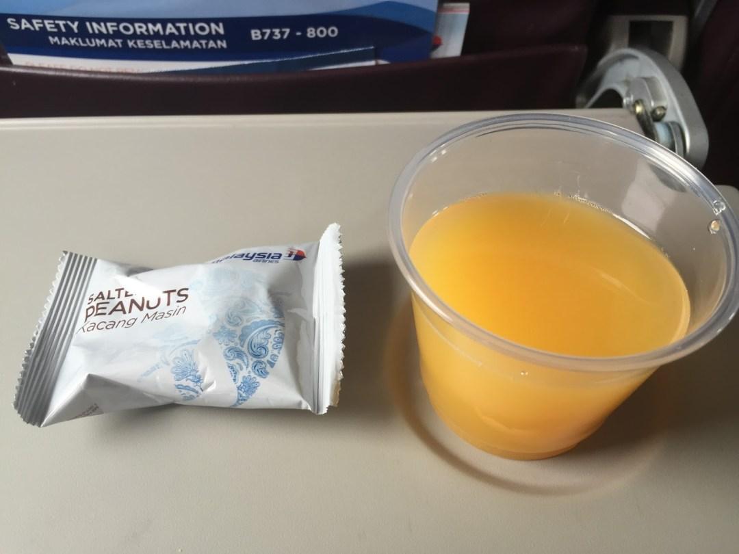 Savoury snack and juice