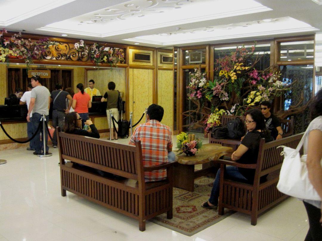 Reception area at Kabayan Hotel