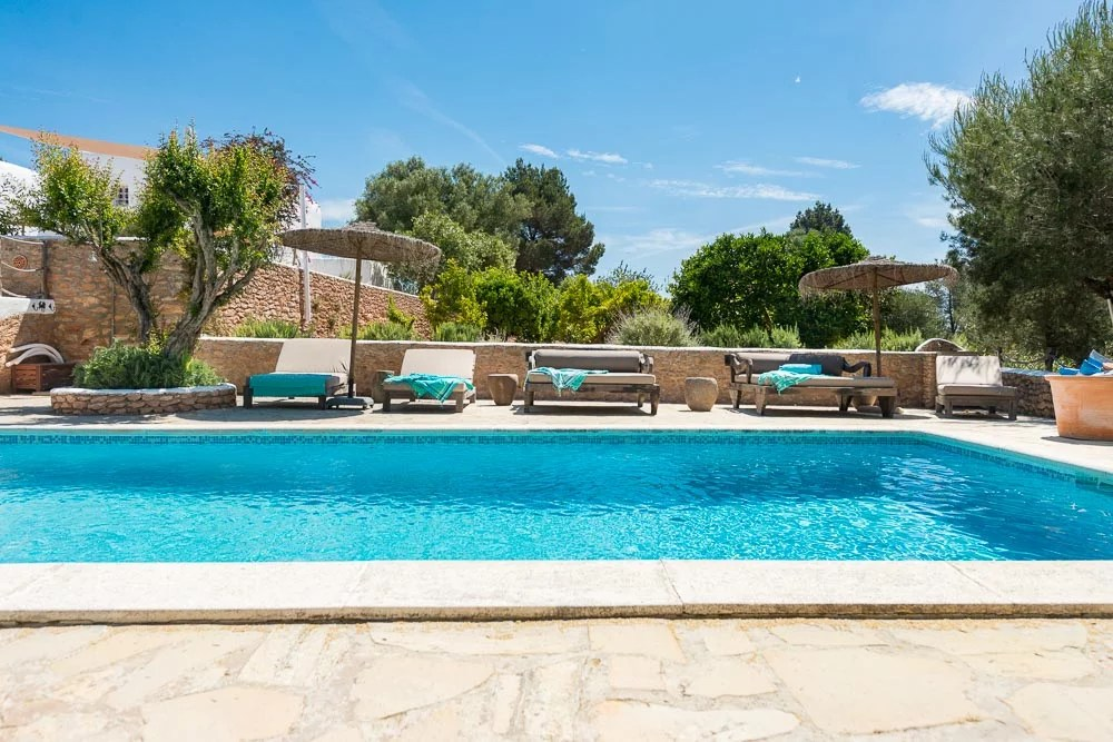 Can Truy Ibiza villa 5 bedrooms pool San Rafael