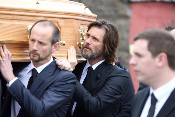 jim carrey cathriona funeral