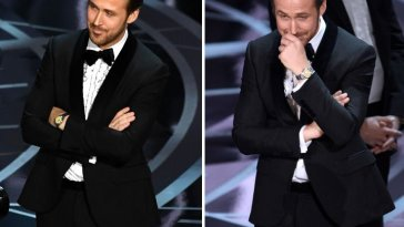 ryan gosling oscars laugh