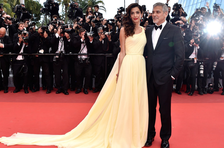 George and Amal Clooney's twins – Ella and Alexander – are here