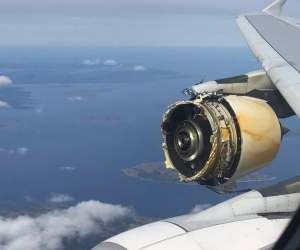 air france AF66 engine explodes