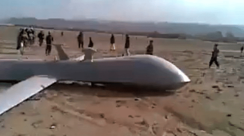 reaper drone shot down afghanistan