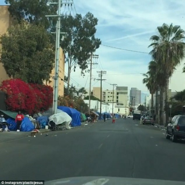 LA homelessness Skid Row