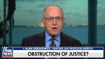 alan dershowitz trump cannot obstruct justice