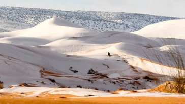 snow in sahara