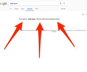 Google Removes Shopping Search Results for Guns