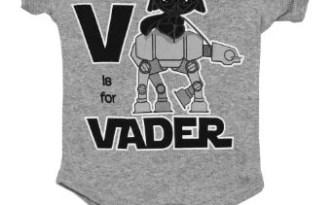 Baby Darth Vader riding an AT-AT