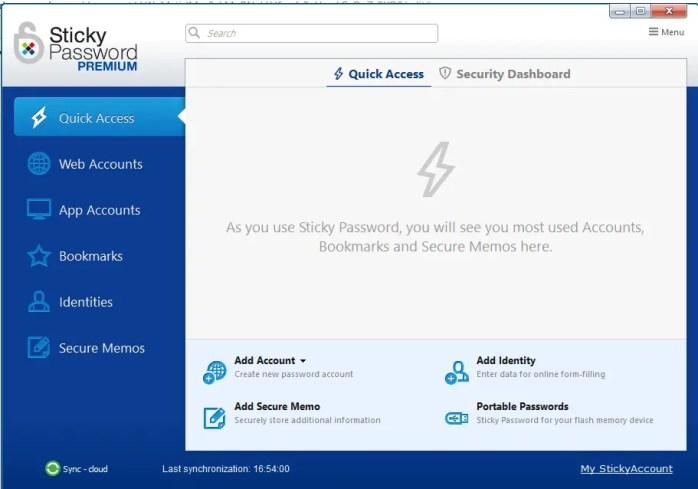 sticky password windows application