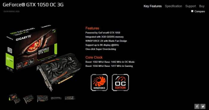 geforce gtx 1050 oc 3g