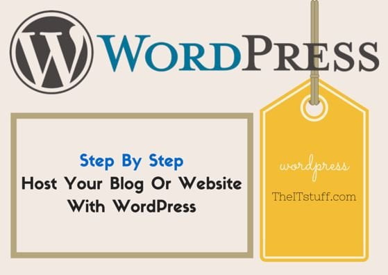 host your Blog or website with wordpress