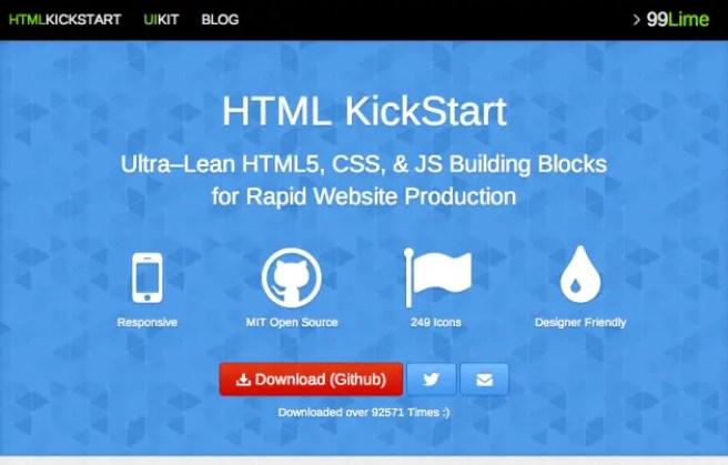 HTML kickstart bootstrap alternative