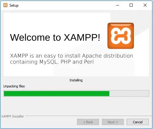 xampp is installing