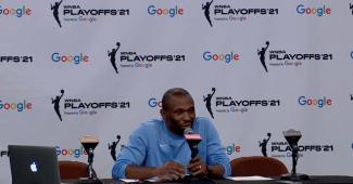 James Wade. (Screenshot via WNBA Media Central)