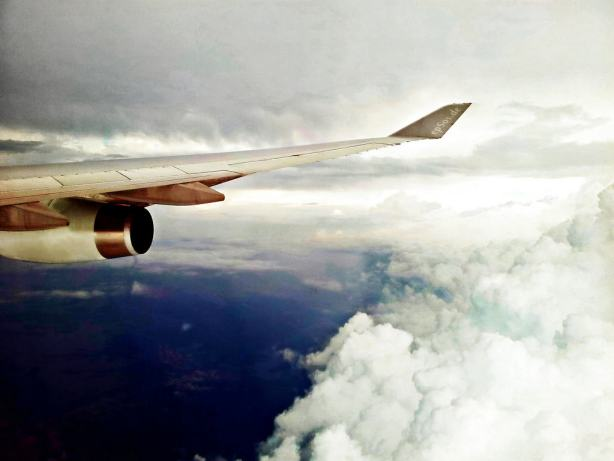 Airplane Flight Wing flying to Travel on Vacation