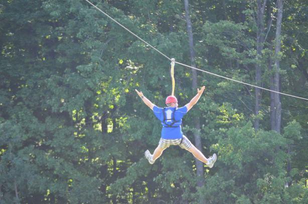 Zip Line Fun at Boyne Highlands Near Petoskey Photo by Michigan Municipal League