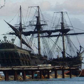 "Avast maties - The ""Black Pearl"" is in port."