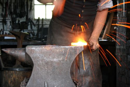 Blacksmith at Work - Colonial Williamsburg
