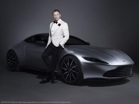 Daniel Craig with the Aston Martin DB10