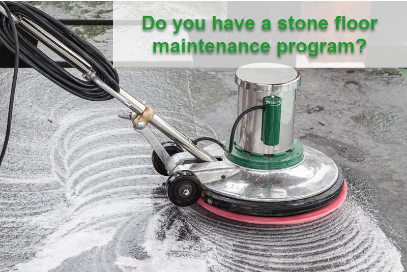 how to make stone floors shine