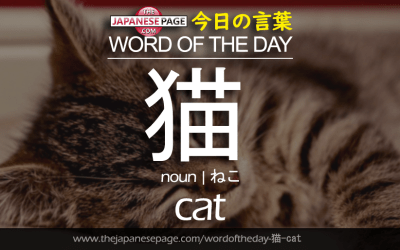 Beginner Word of the Day – 猫 [cat]