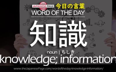 Advanced Word of the Day – 知識 [knowledge; information]