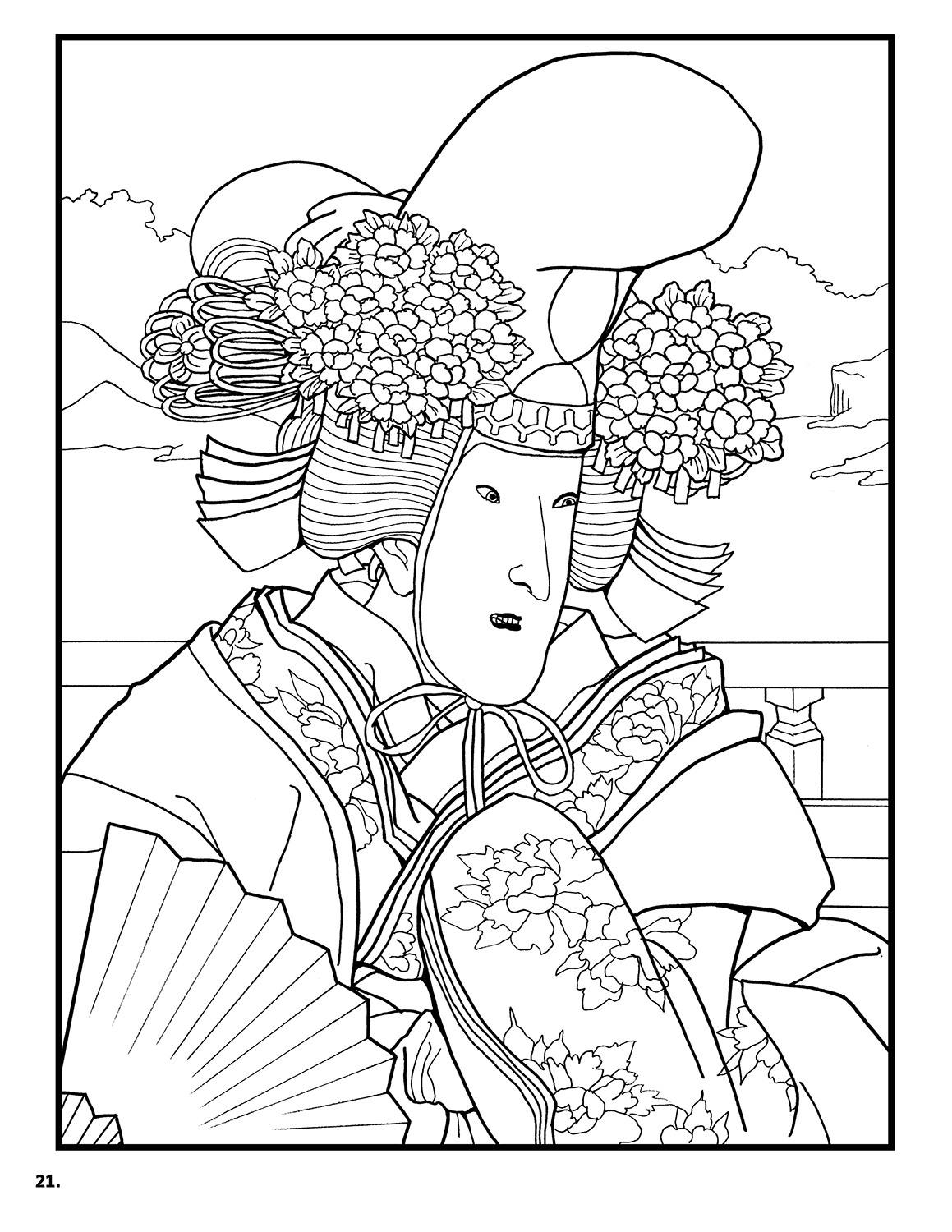 Japanese Coloring Pages